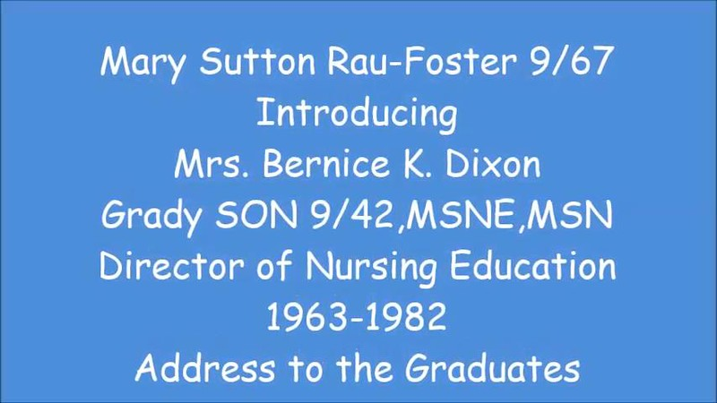 5 Mrs Dixon Address to Graduates (Part 1)