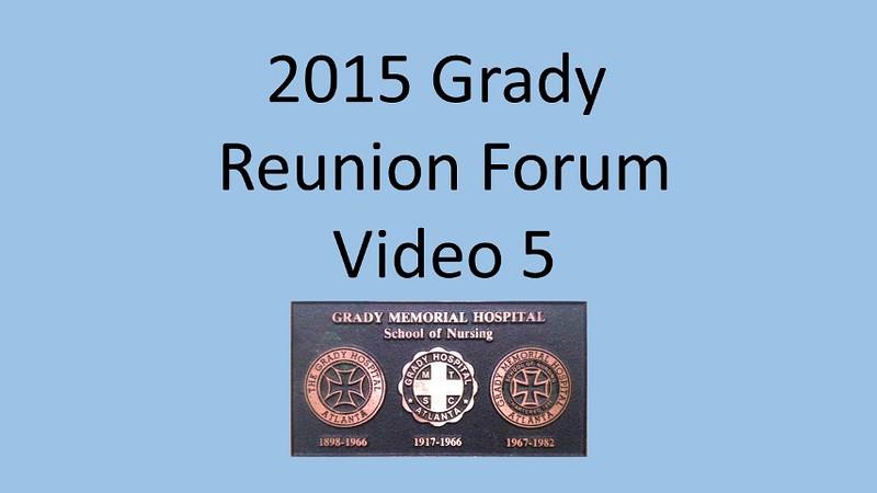 2015 Grady School of Nursing Forum Video 5