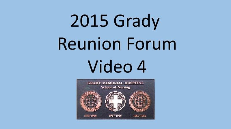 2015 Grady School of Nursing Forum Video 4