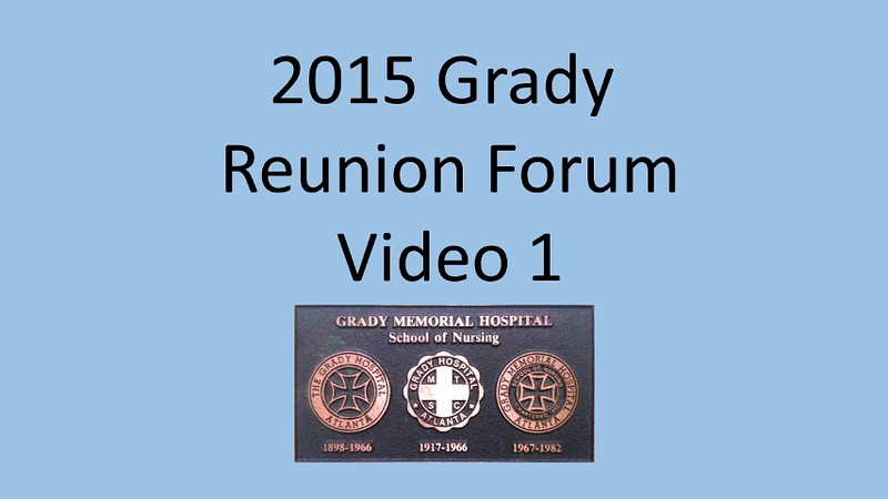 2015 Grady School of Nursing Forum Video 1