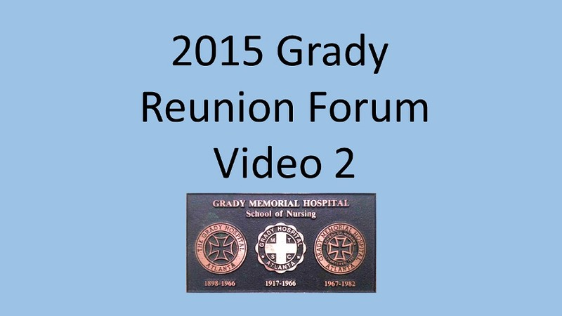2015 Grady School of Nursing Forum Video 2
