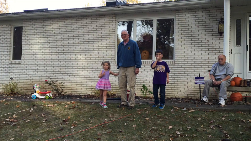 Oct 23, everyone arrived in Ohio for Emma's party<br /> So much fun playing in the leaf pile