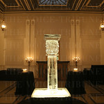 The Olmsted looked beautiful with a ice sculpture and candles