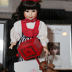 This antique doll was a silent auction item.