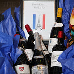 A french wines basket was a silent auction item.