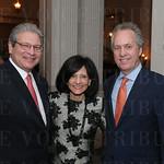 Victor and Kim Staffieri, Mayor Greg Fischer.