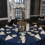 The tables were set and awaited the guests.