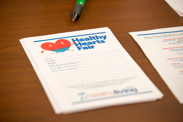 The Center for Healthy Living hosted its second annual Healthy Hearts Fair on February 5, 2015 at Holy Name Medical Center in Teaneck, NJ.  Photo by Victoria Matthews/Holy Name Medical Center