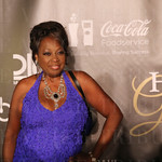 Star Jones posed for a photo while walking the red carpet.