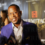 Martin Lawrence smiled as he was interviewed on the red carpet.