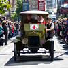 Images taken at Stewart Dawson's corner Wellington, New Zealand of the ANZAC Parade commemorating 100 years since the invasion of Gallipoli in World War I.<br /> Photo John.Mathews@xtra.co.nz<br /> Copyright: John Mathews 2015