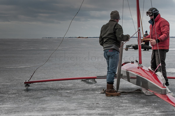 Mike (r) Rigging his Renegade 188 | LIttle Bay de Noc, MI