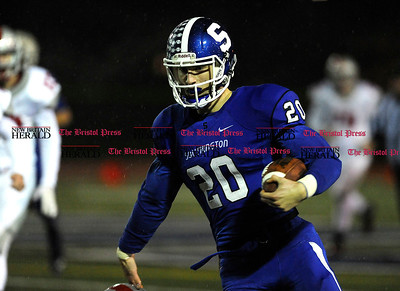 12/1/2015 Mike Orazzi | Staff Southington's Jasen Rose (20) during the Class LL quarterfinal at Southington High School on Tuesday night.