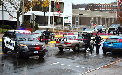 12/1/2015 Mike Orazzi | Staff Bristol police on scene of a multiple vehicle crash on North Main Street on Tuesday afternoon.  ** Justin may have more details later on ***