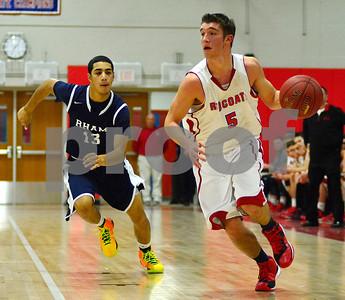 1/2/2015 Mike Orazzi | Staff Berlin's Adam Litwinko(5) during Friday night's basketball game with RHAM.