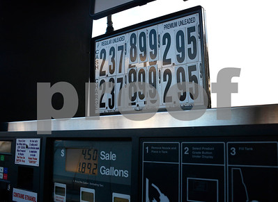 1/2/2015 Mike Orazzi | Staff Gas prices at the VP Racing Fuels station on Route 10 in Plainville on Friday.