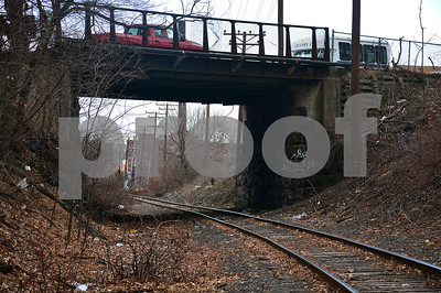1/2/2015 Mike Orazzi | Staff DOT is building a new bridge on West Main Street in New Britain over the railroad tracks.