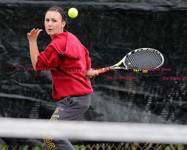 5/1/2015 Mike Orazzi | Staff Berlin's Jasmine Nappi during a tennis match Friday.