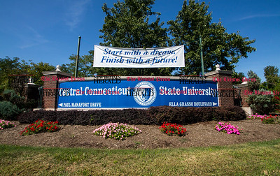 09.16.15 Amelia Parlier | Special to the Herald CCSU's Main Entrance in New Britain.