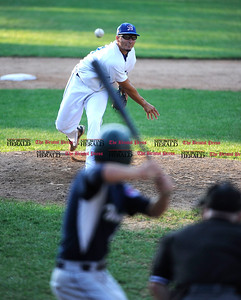 8/16/2015 Mike Orazzi   Staff Bristol Blues' Michael Nocera (21) during the Futures League Championship game between the Bristol Blues and the Worcester Bravehearts at Muzzy Field in Bristol on Sunday night. Bravehearts won 6-4.