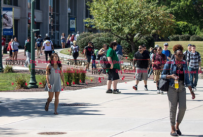 09.16.15 Amelia Parlier   Special to the Herald Students walk to and from classes Wednesday at CCSU in New Britain.