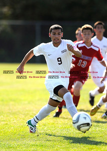 9/16/2015 Mike Orazzi   Staff Bristol Central's Andrew Marcantonio(9) during soccer with Berlin on Wednesday afternoon at BC in Bristol.