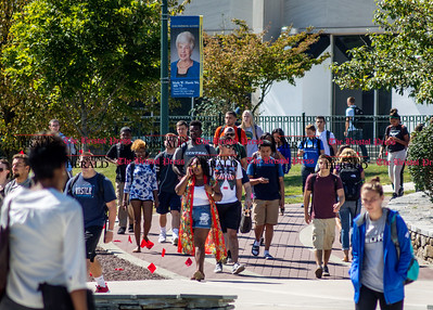09.16.15 Amelia Parlier | Special to the Herald Students walk to and from classes Wednesday at CCSU in New Britain.