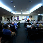 22-3-15. Israeli election panel discussion at Beth Weizmann.  Photo: Peter Haskin