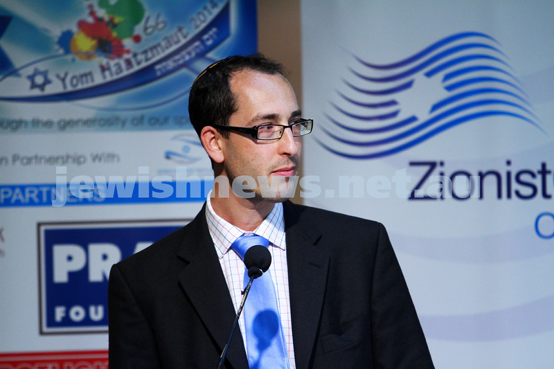 22-3-15. Israeli election panel discussion at Beth Weizmann.  Nathan Jeffay. Photo: Peter Haskin