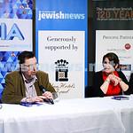22-3-15. Israeli election panel discussion at Beth Weizmann.  Greg Sheridan. Photo: Peter Haskin