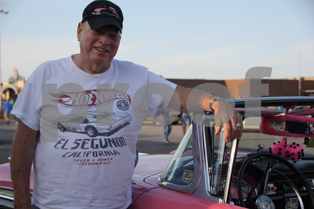 Rick Anderson is one of the large number of  car owners of late model cars who brought his 1957 Ford Fairlane to share with the many car enthusiasts that came out to the Ja-Mars Cruise night held on Friday,  August 7, 2015 at Ja-Mars in Fort Dodge. He is from Fort Dodge.