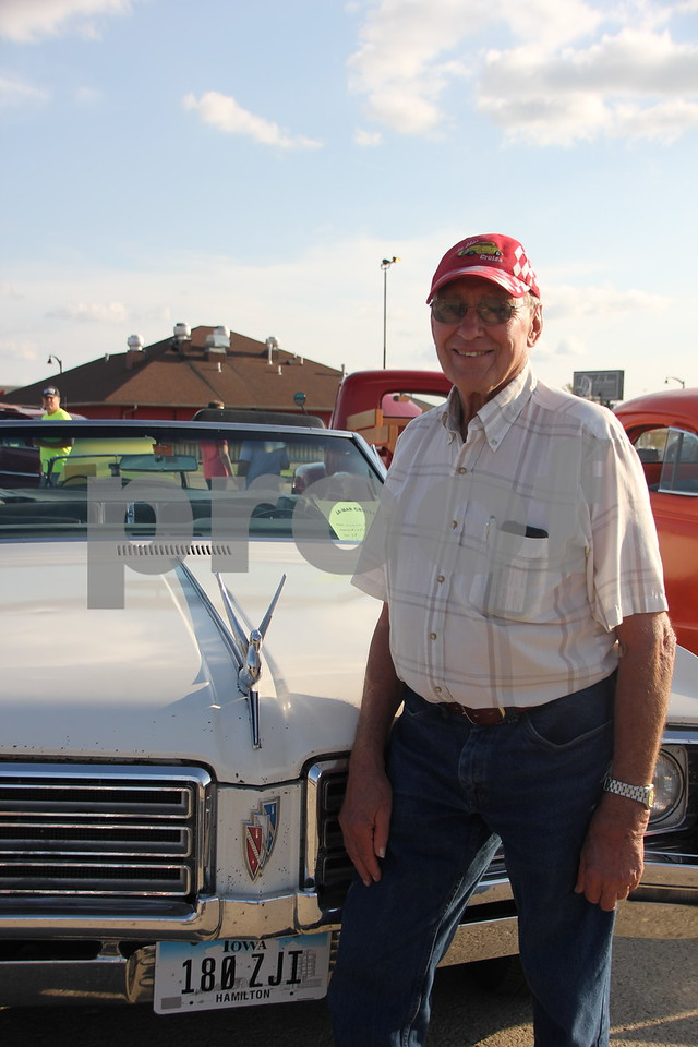One of  many participants in the large turnout for the Ja-Mars Cruise event was Duane Reinsch seen here with his 1968 Buick. The event was held at Ja-Mars in Fort Dodge on Friday, August 7, 2015. A large number of owners participating in the event brought their cars to share with other car enthusiasts. Duane is from Webster City.