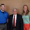 L-R: Brian Fazzone,    Dean Jerry R. Youkey, MD, Katrina Morgan