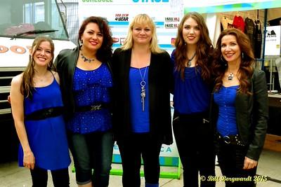 Shila Marie, Dahlia Wakefield, Shawna Lynne, Karen Claypool, Danita Lynn - Dirt Road Angels - Taste of Edmonton 2015 430