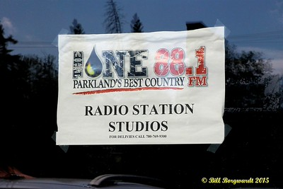 Temporary sign on the door on opening day - FM 88.1 The One Sign On 051