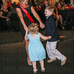 WLKY\'s Karen Roby dancing with Boy and Girl of the Year Addie Roberts and Matthew Marshall.