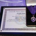 The Purple Heart award.