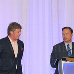 Louisville Metro Police Foundation Board of Directors Chairman Michael Houlihan and Executive Director Barry Denton.
