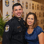 Officer of the Year Brian Peters and Dawn Peters.