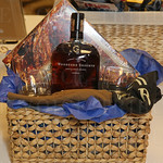 A Woodford Reserve gift basket was a silent auction item.