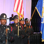 The Louisville Metro Police Department Honor Guard.