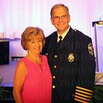 Joan Conrad and Chief of Police Steve Conrad.