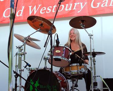 Mama MacTalla on drums