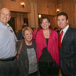 Papa John\'s first franchisees Roger, Linda and Karen Roalofs and Founder and Louisvillian of the Year Honoree John Schnatter.