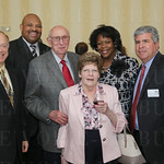 Lance Gibert, Metro Council President  David Tandy, JFCS Board Treasurer Marty Margulis, Judy Margulis, Carolyn Tandy and Billy Altman.