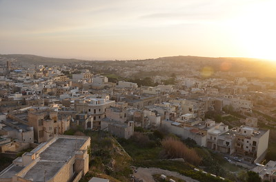 View of Gozo from the Citadel