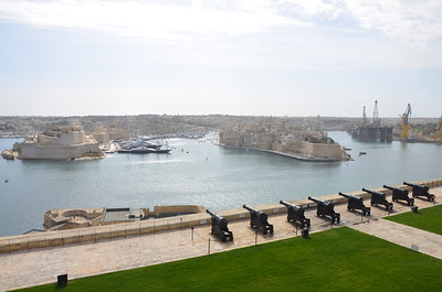 View of the Three Cities on Malta