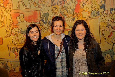 Jessy Mossop, Julia Nicholson, Sydney Mae - Opry backstage - Nashville 15 0217