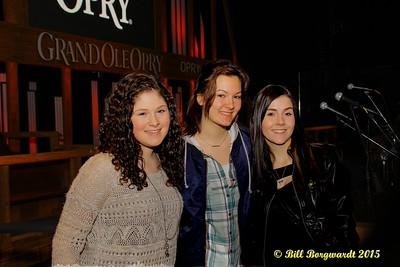 Sydney Mae, Julia Nicholson, Jessy Mossop - Opry backstage - Nashville 15 0237