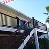 New siding, trim, balcony railing and paint - it looks faaaabulous!